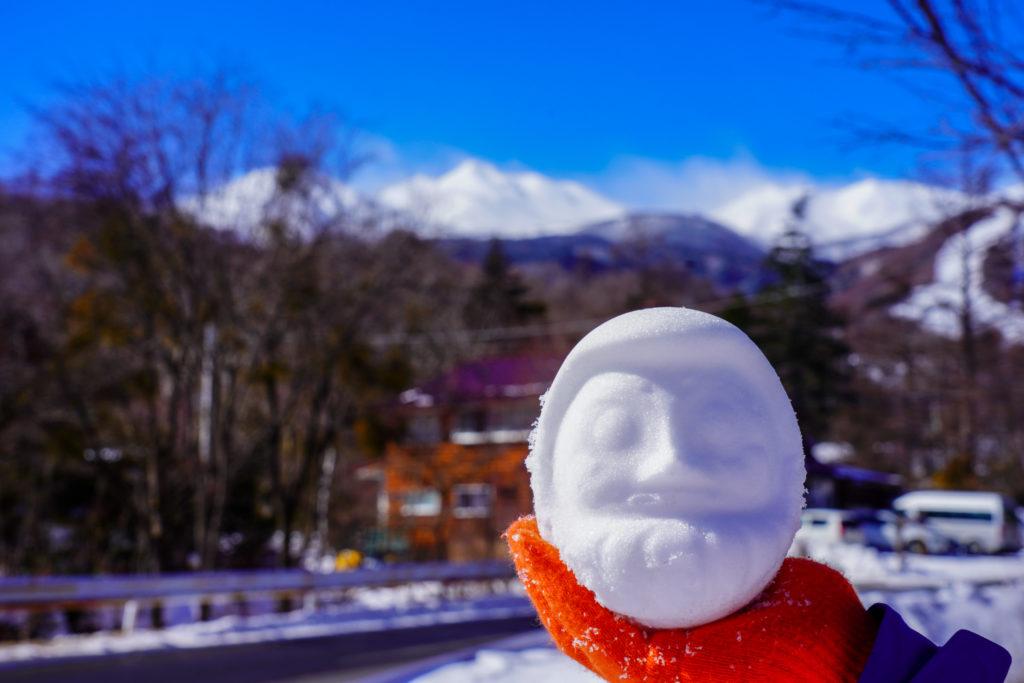 厳冬期・乗鞍岳・雪だるま