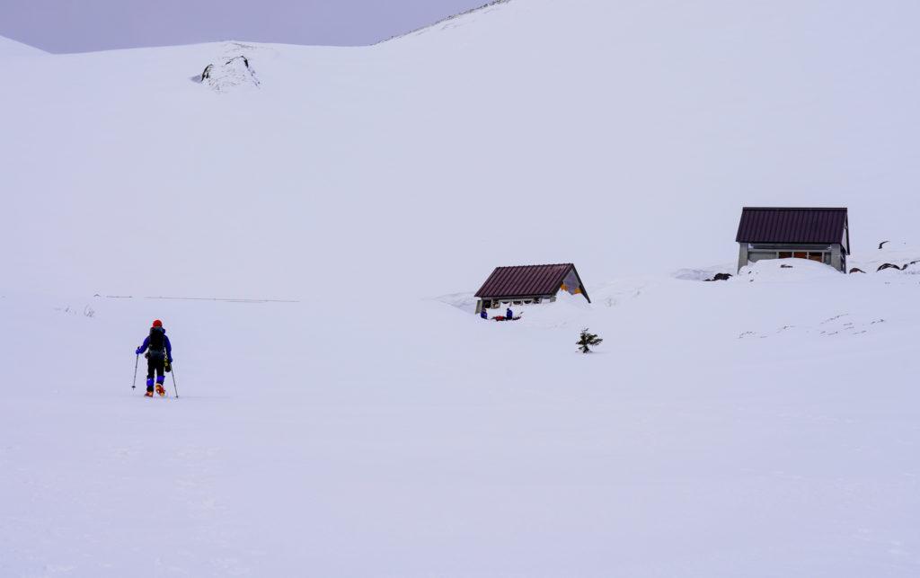 厳冬期・乗鞍岳・肩の小屋口