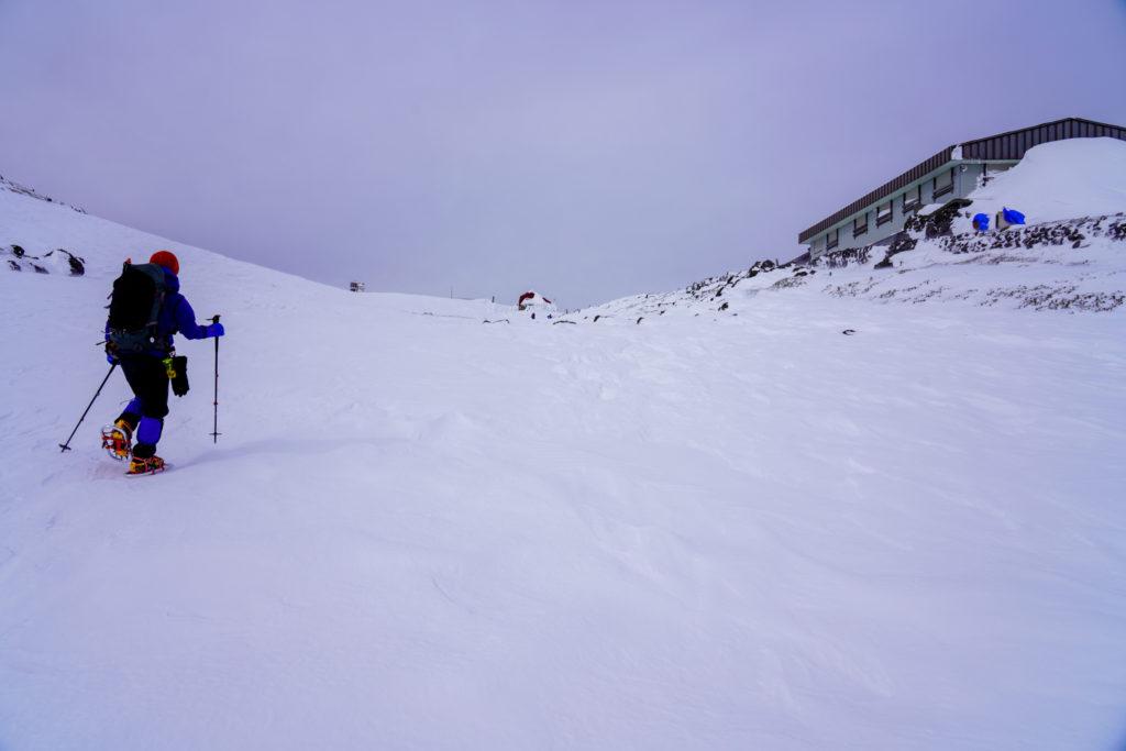 厳冬期・乗鞍岳・肩の小屋