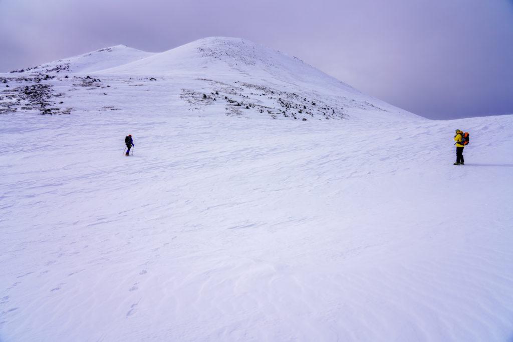 厳冬期・乗鞍岳・朝日岳と蚕玉岳