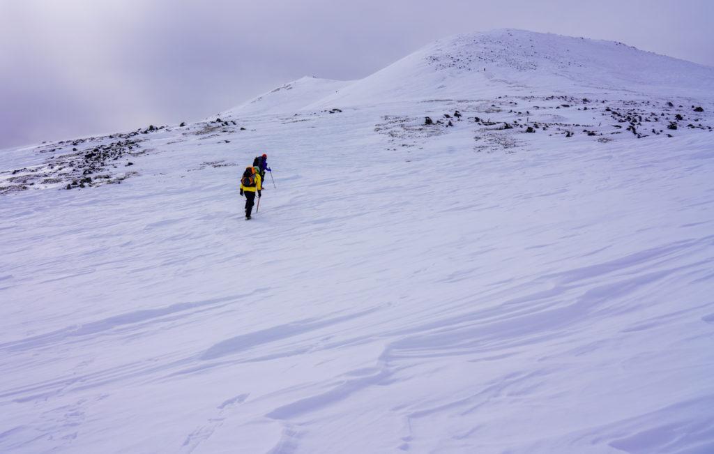 厳冬期・乗鞍岳・まずは朝日岳へ