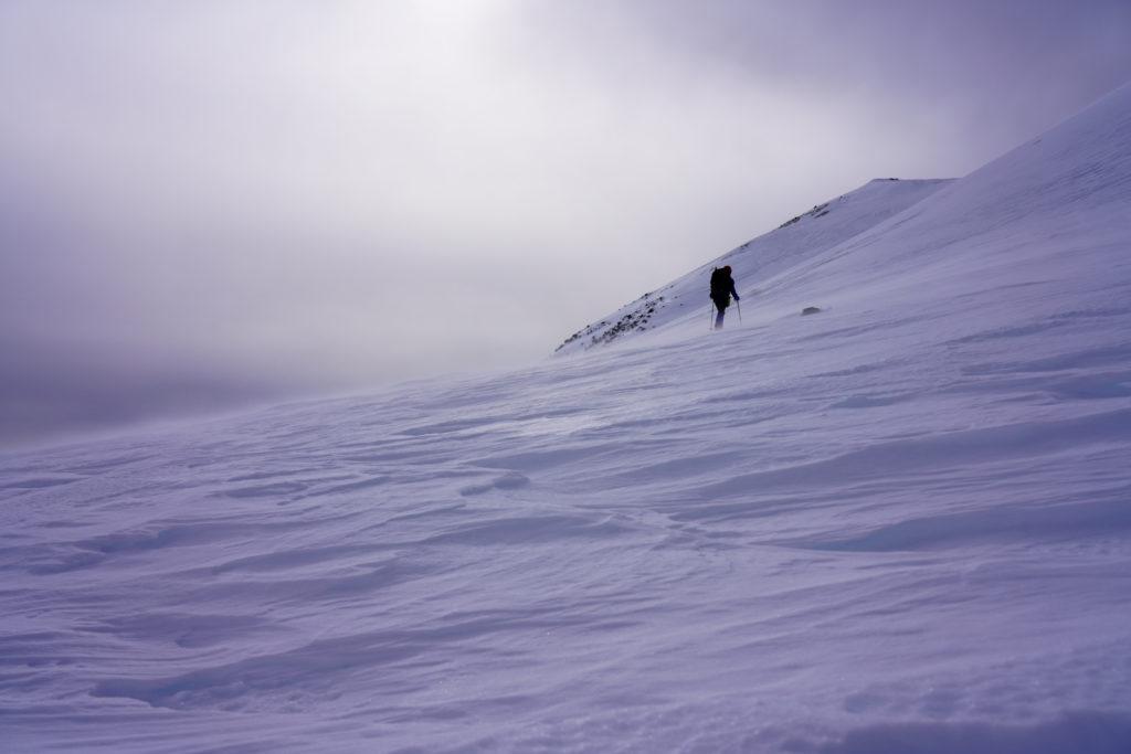 厳冬期・乗鞍岳・乗鞍のシュカブラ
