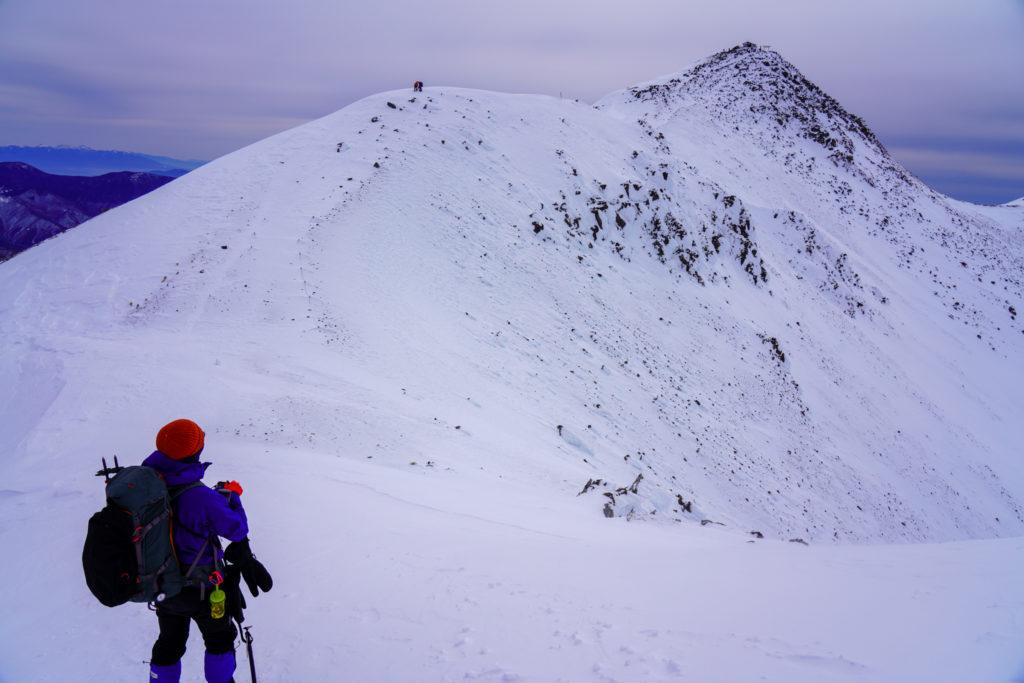 厳冬期・乗鞍岳・朝日岳から剣ヶ峰へ2