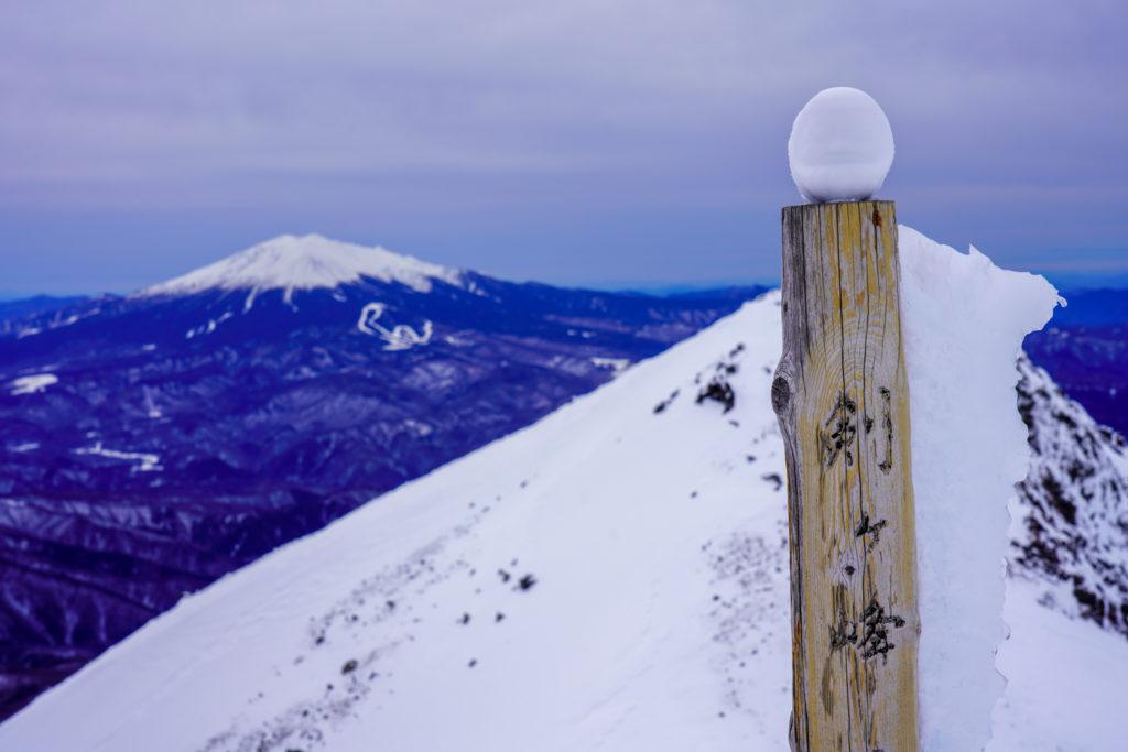 厳冬期・乗鞍岳・雪だるま!