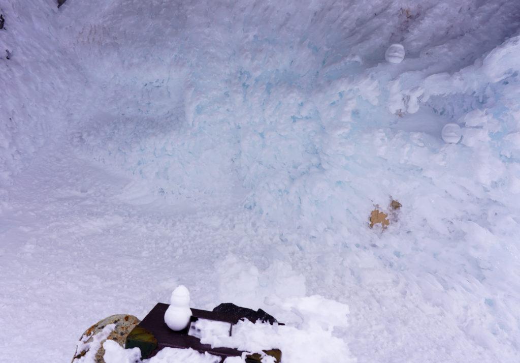 厳冬期・乗鞍岳・からっぽの乗鞍本宮