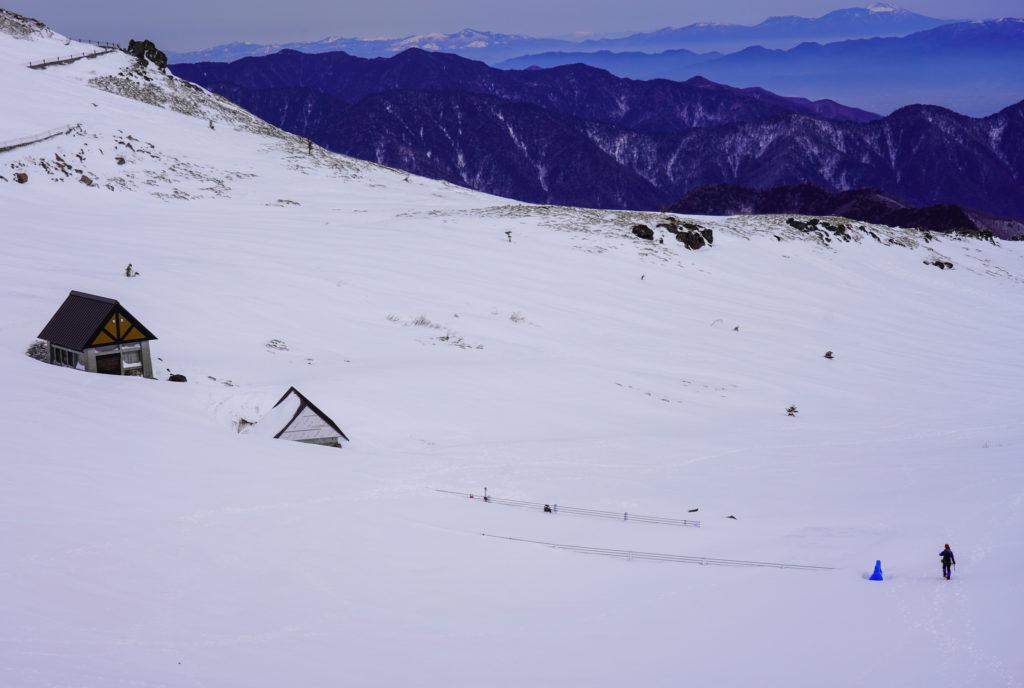 厳冬期・乗鞍岳・再びの肩の小屋口