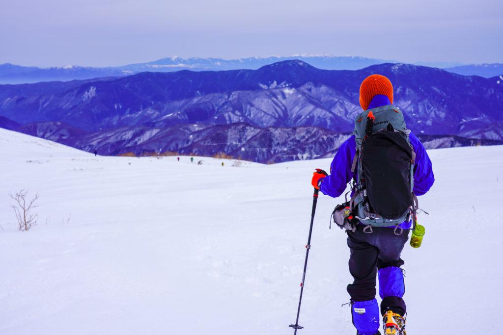 厳冬期・乗鞍岳・真っ白な位ヶ原