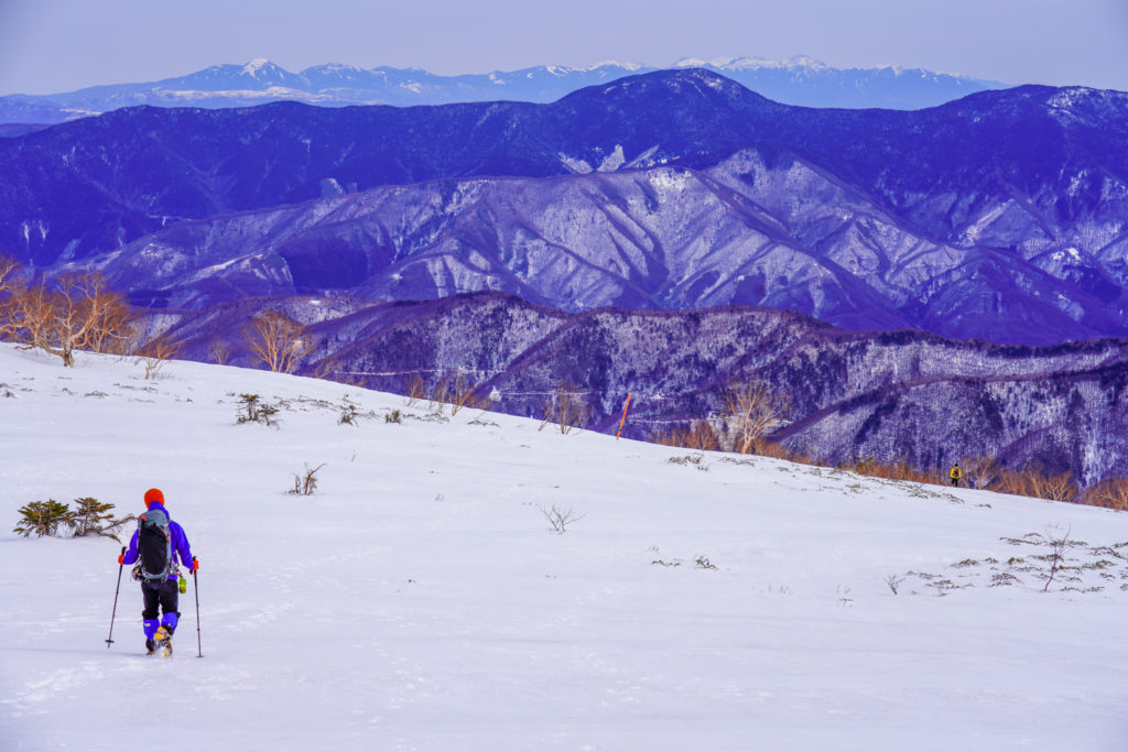 厳冬期・乗鞍岳・スキー場へ下山