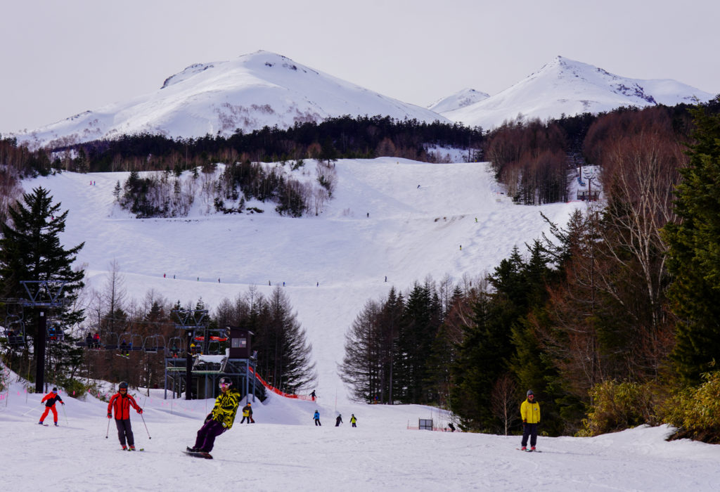 厳冬期・乗鞍岳・スキー場からの乗鞍岳