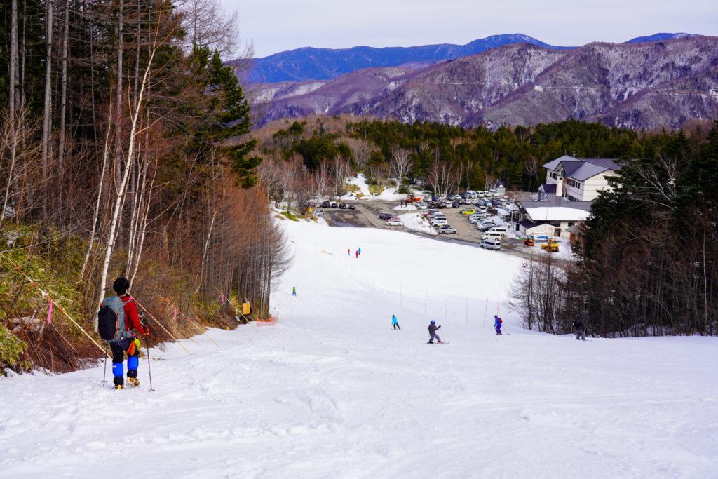 厳冬期・乗鞍岳・休暇村へ下山完了