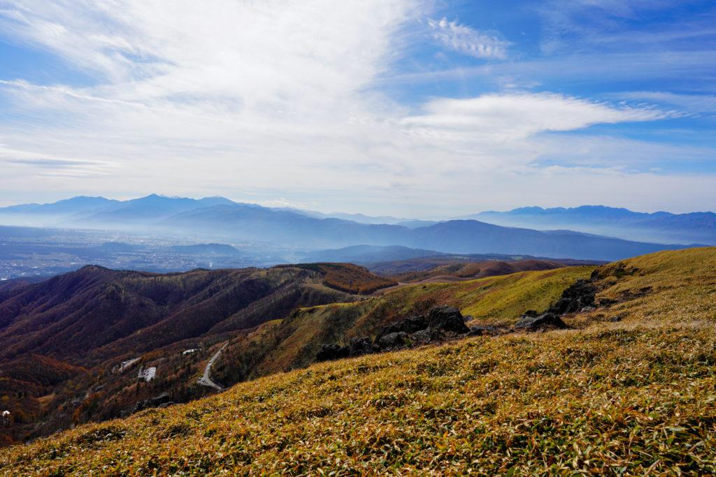 霧ヶ峰・霧ヶ峰高原車山山頂からの展望