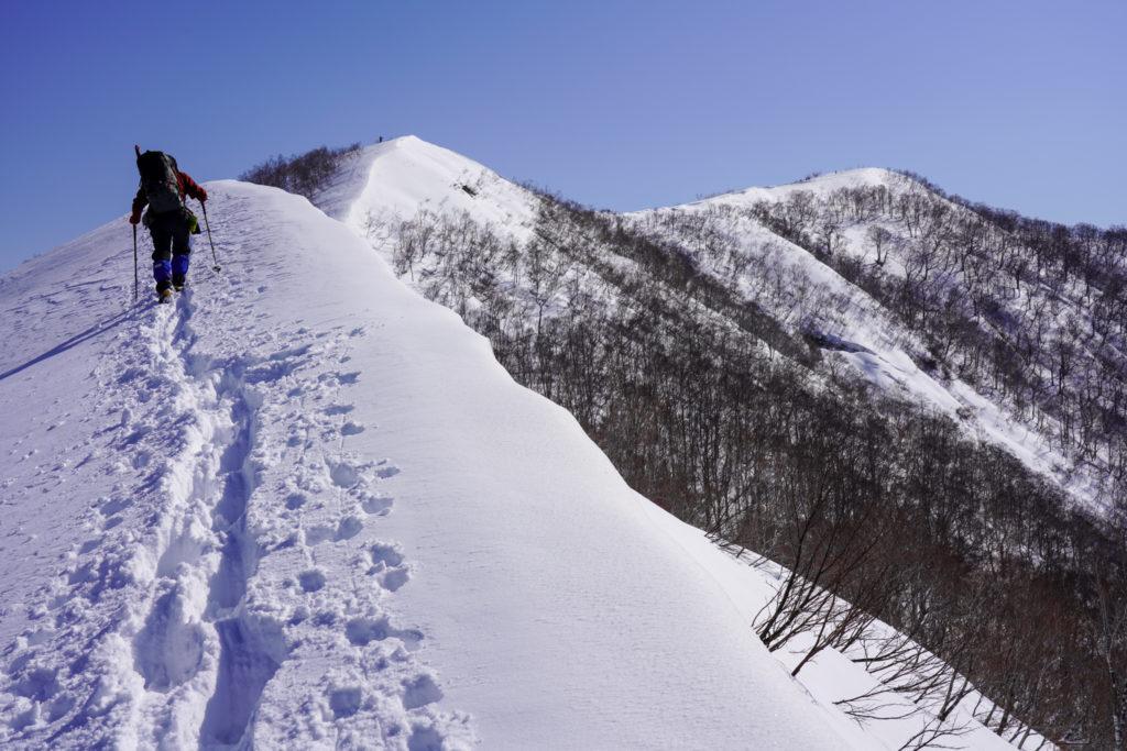 残雪期・東谷山・日白山・今日一番の頑張りどころ