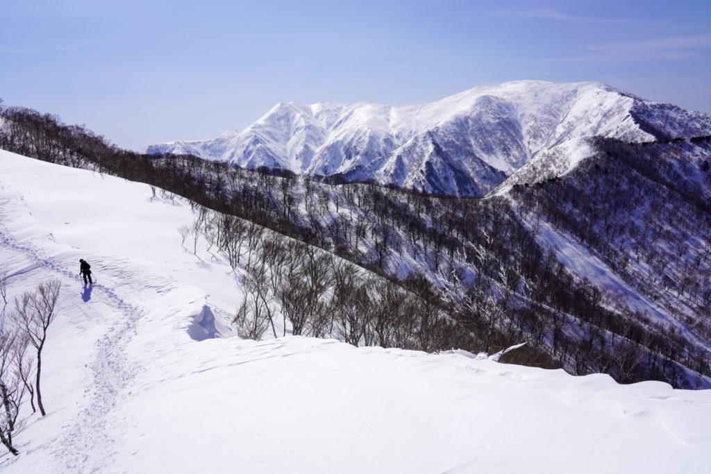 残雪期・東谷山・日白山・平標山を横目に