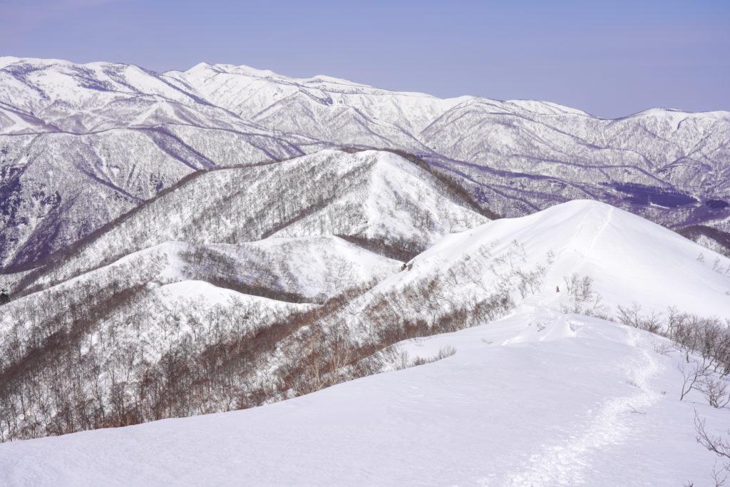 残雪期・東谷山・日白山・来た道