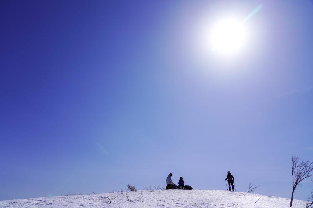 残雪期・東谷山・日白山・日白山ゴール目前!