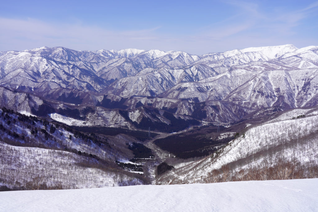 残雪期・東谷山・日白山・三国街道方面
