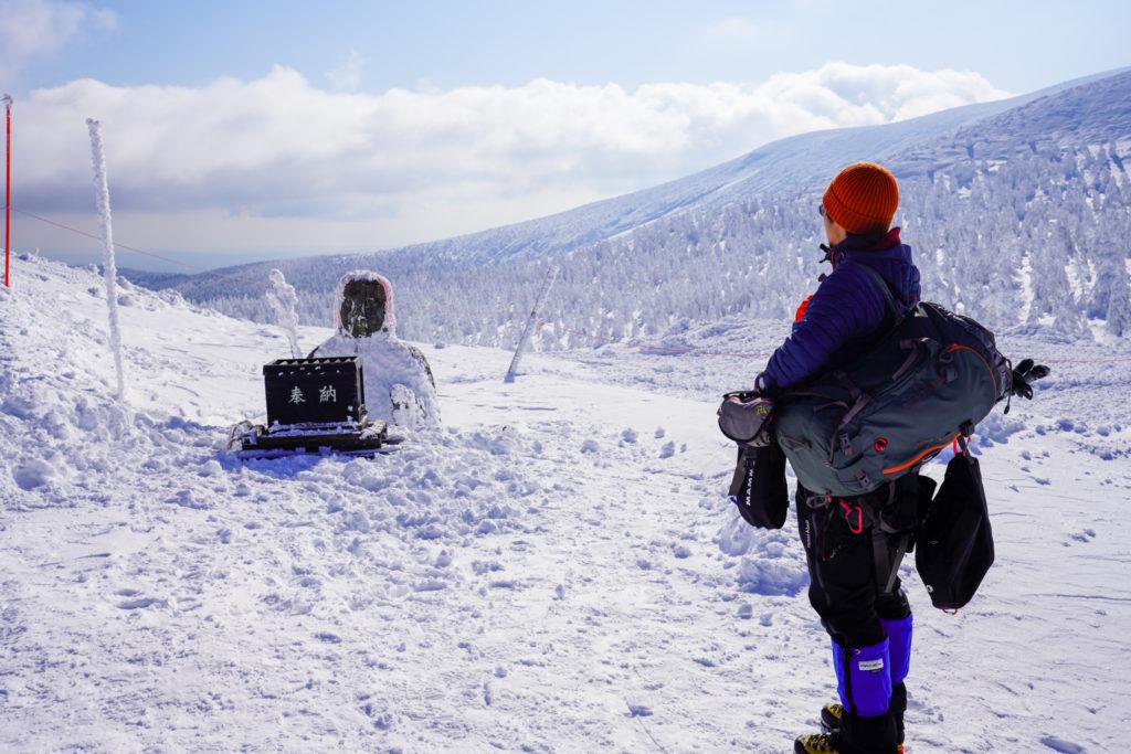 残雪期・蔵王山(熊野岳・刈田岳)・地蔵尊