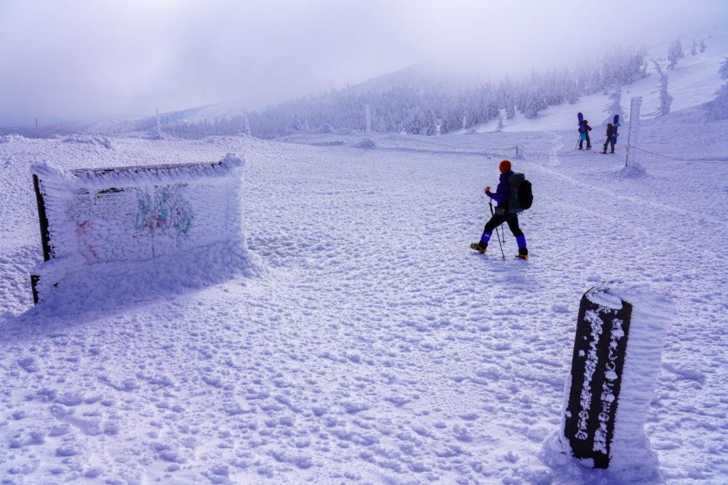 残雪期・蔵王山(熊野岳・刈田岳)・地蔵山へ