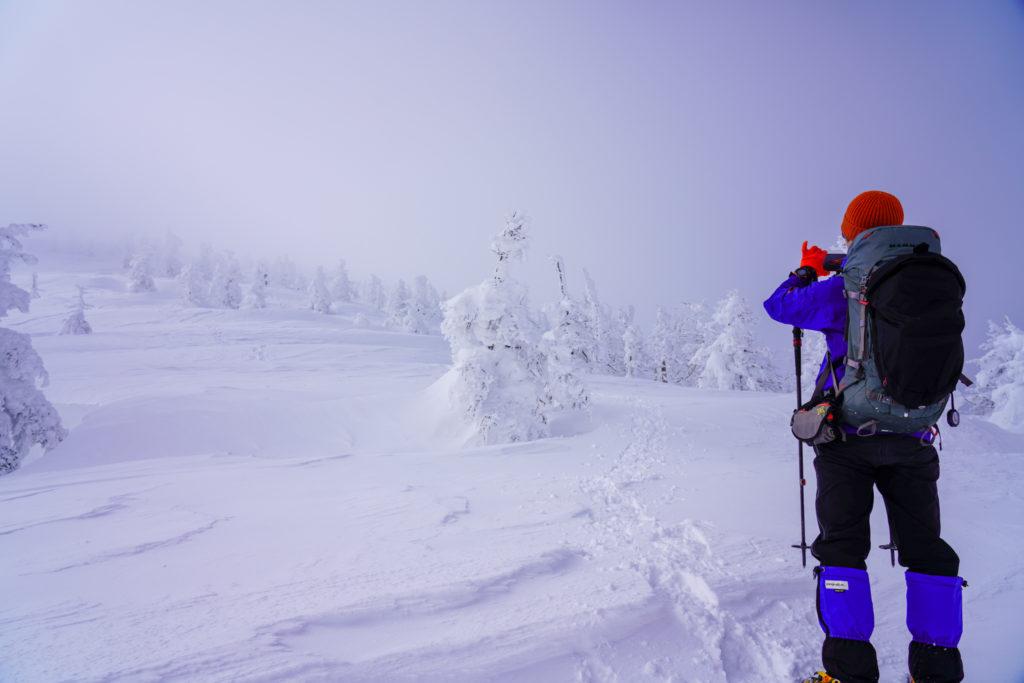 残雪期・蔵王山(熊野岳・刈田岳)・快晴はどこへ