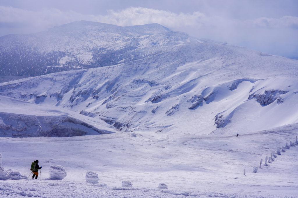 残雪期・蔵王山(熊野岳・刈田岳)・熊野岳、次は刈田岳