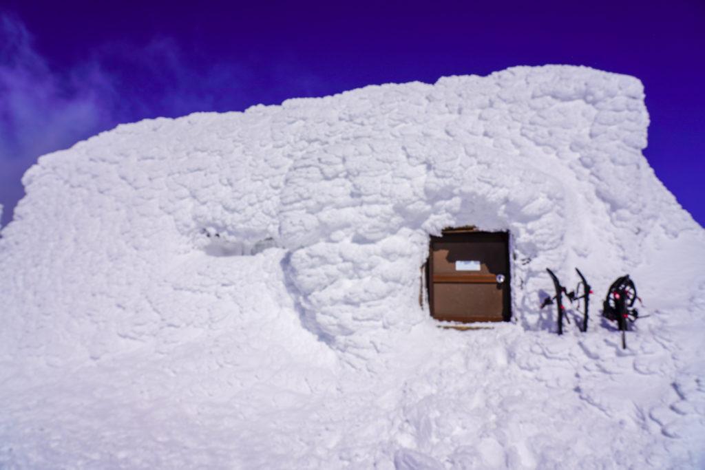 残雪期・蔵王山(熊野岳・刈田岳)・熊野岳避難小屋