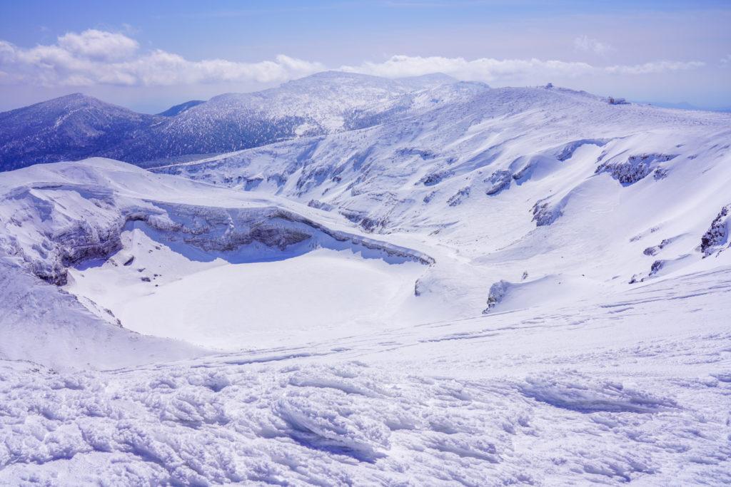 残雪期・蔵王山(熊野岳・刈田岳)・蔵王の御釜