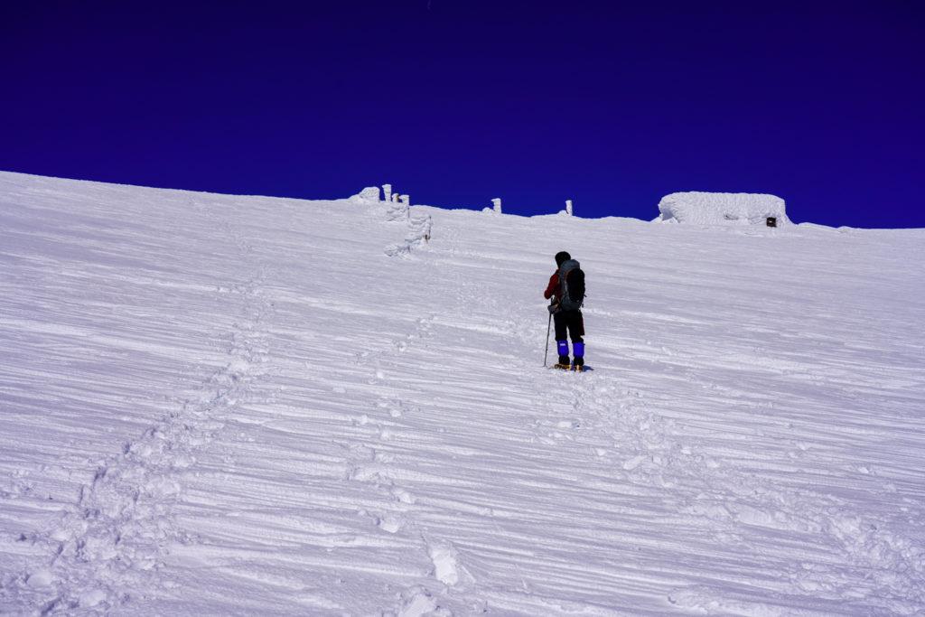残雪期・蔵王山(熊野岳・刈田岳)・熊野岳避難小屋直登ス