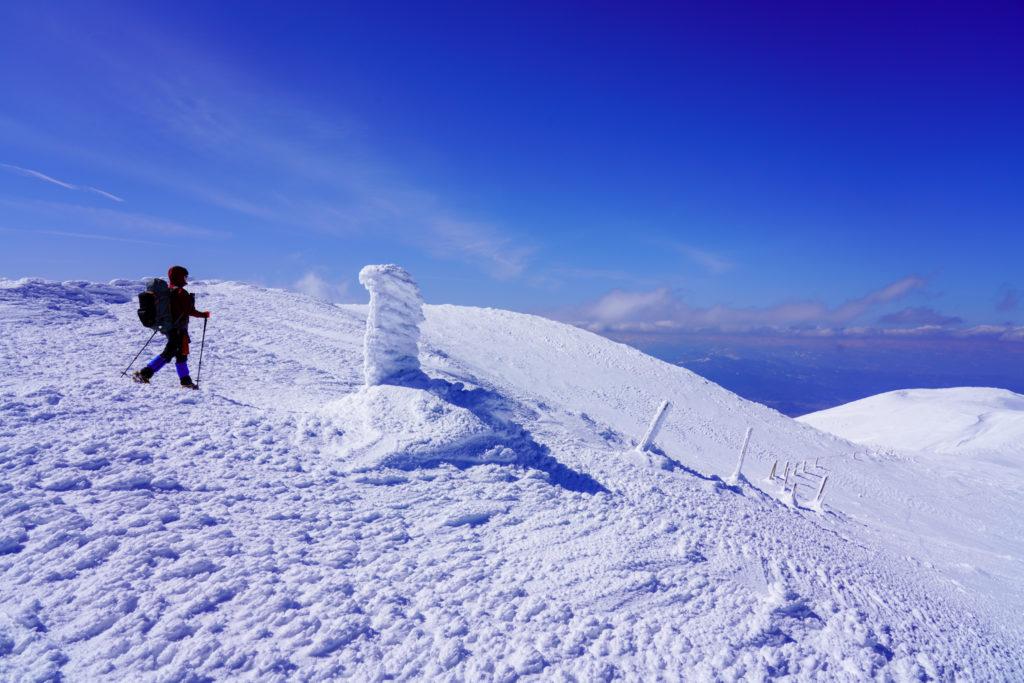残雪期・蔵王山(熊野岳・刈田岳)・熊野岳から地蔵山へと
