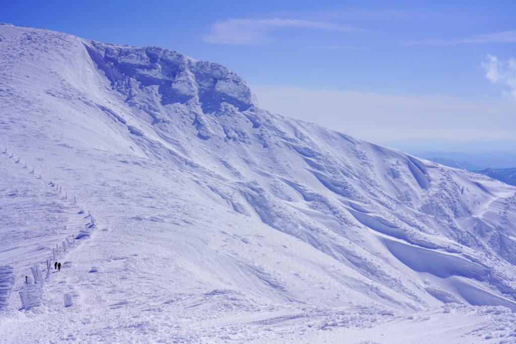 残雪期・蔵王山(熊野岳・刈田岳)・熊野岳を振り返る