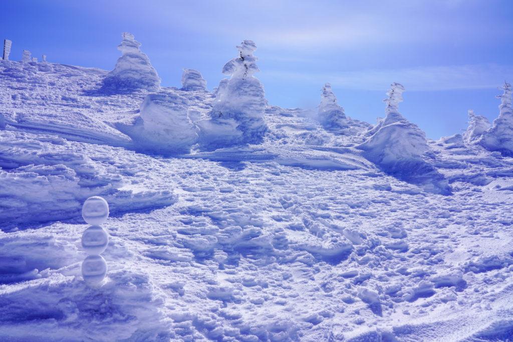 残雪期・蔵王山(熊野岳・刈田岳)・スノーモンスター(偽)