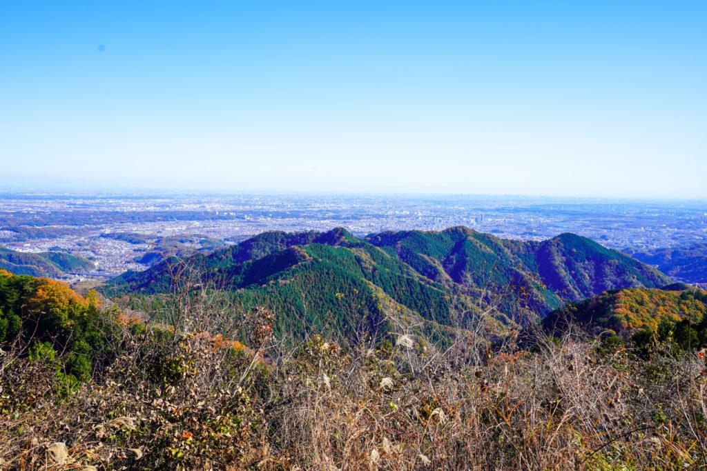 陣馬山・景信山・高尾山・景信山からの展望(東京の街並み)