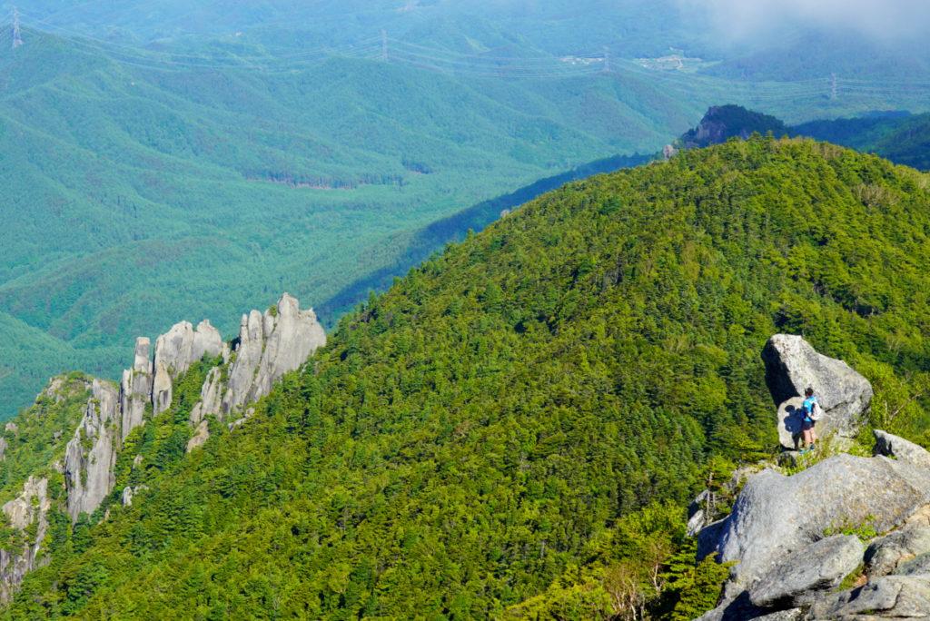 金峰山・上から見下ろす砂払ノ頭