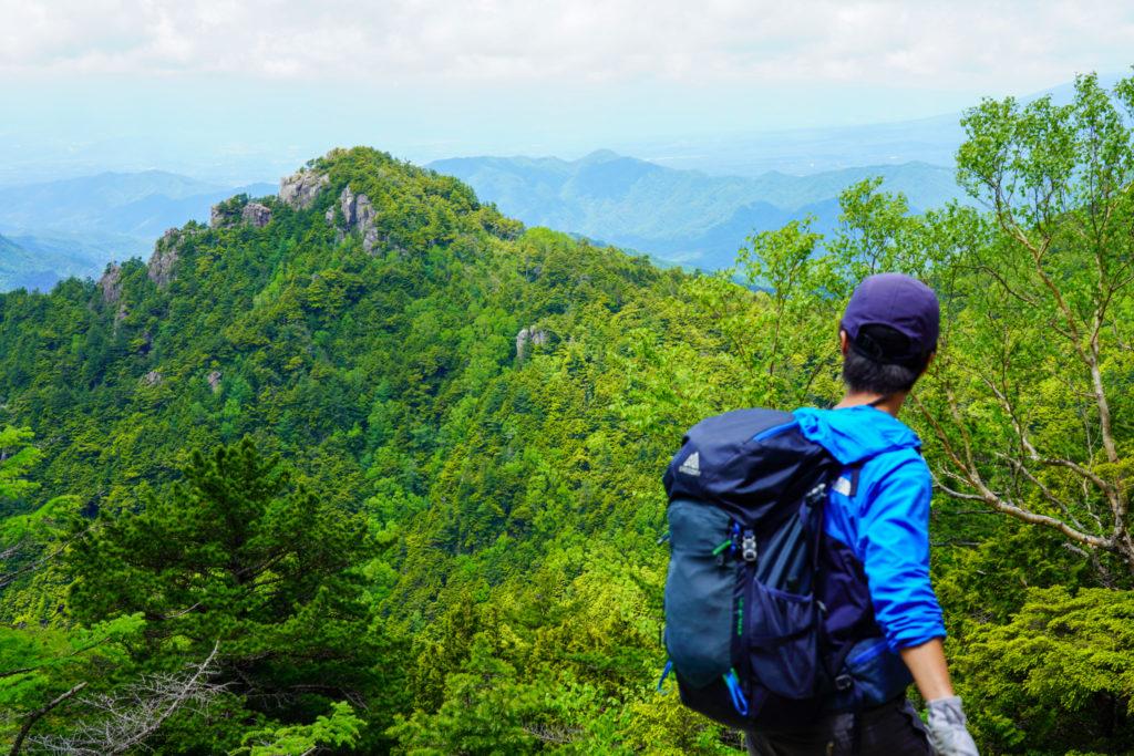 金峰山・縦八丁より。鷹見岩の方かな?