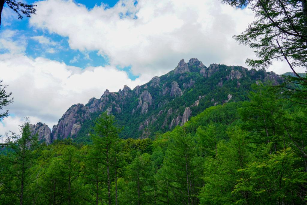 金峰山・帰りは見れました!瑞牆山です!