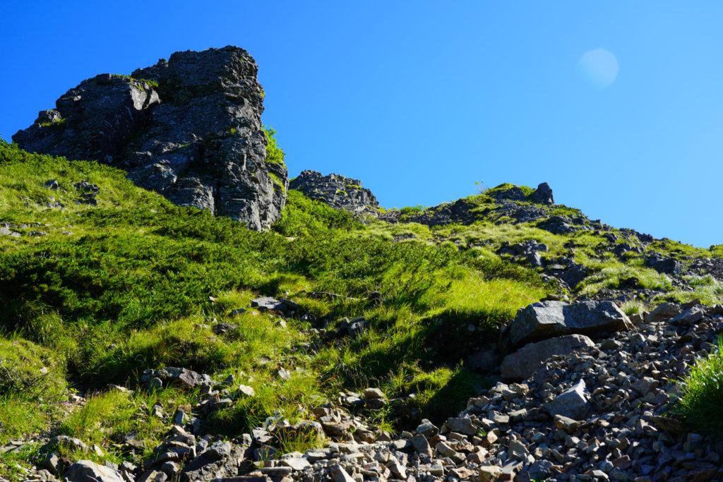 編笠山・権現岳・三ツ頭・西ギボシを登る、その2