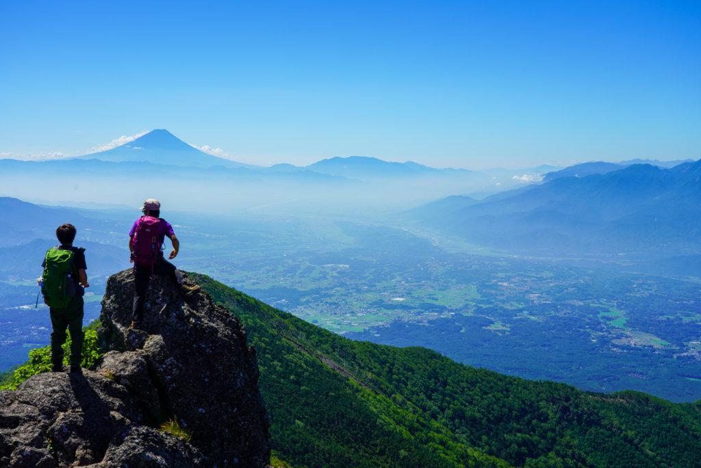 編笠山・権現岳・三ツ頭・権現岳山頂からの富士山