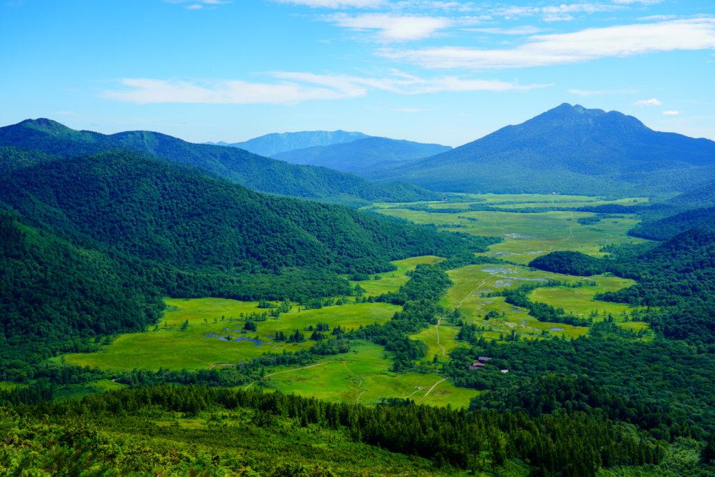 至仏山・尾瀬ヶ原・至仏山から見た尾瀬ヶ原と燧ヶ岳