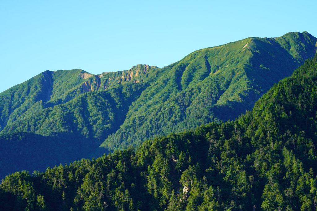 燕岳・合戦尾根から見る大天井岳