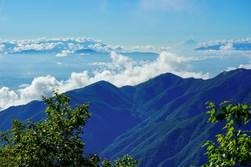 燕岳・燕から見た富士の山