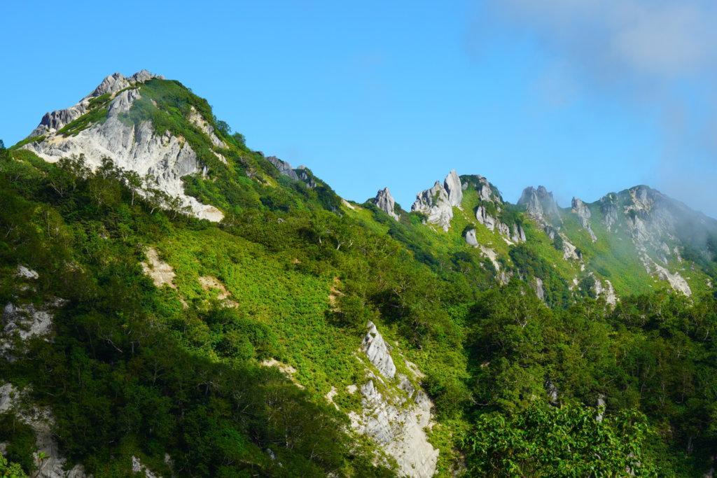 燕岳・燕岳から北燕岳へと続く稜線