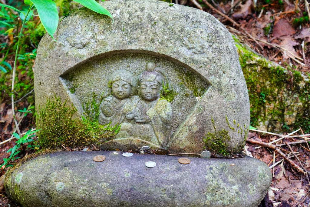 燕岳・第一ベンチの双体道祖神